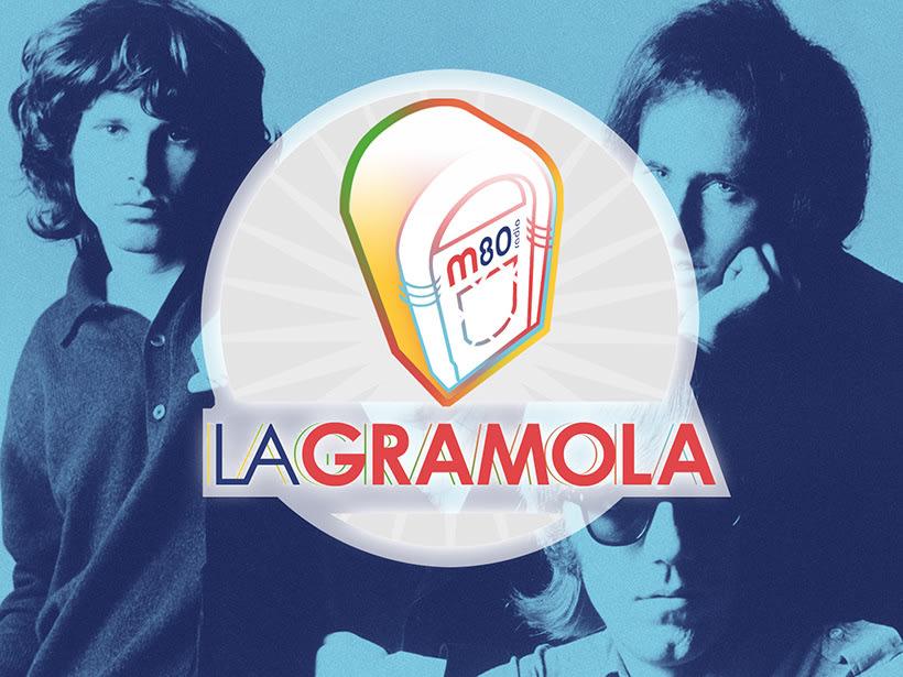 """M80 radio. Diseño de logo para el programa """"La Gramola"""". -1"""