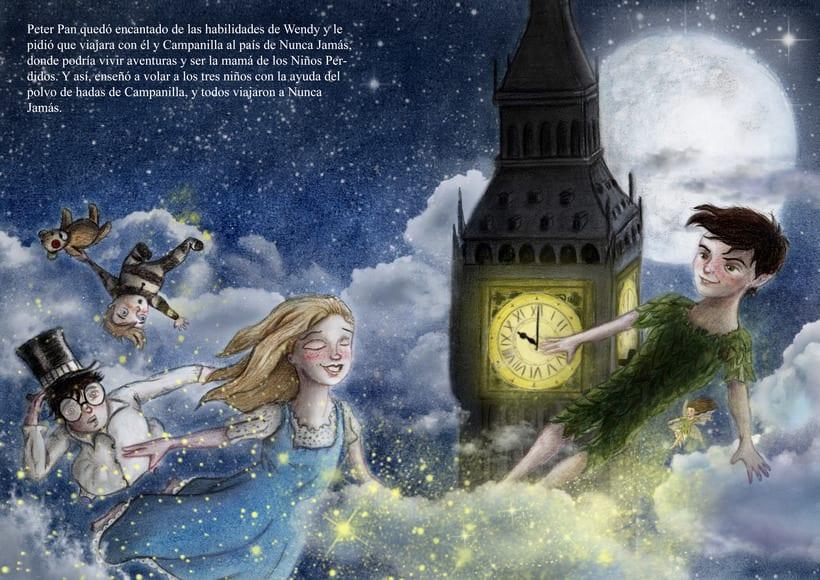 """Proyecto final de Ilustración """" Peter Pan"""" 4"""