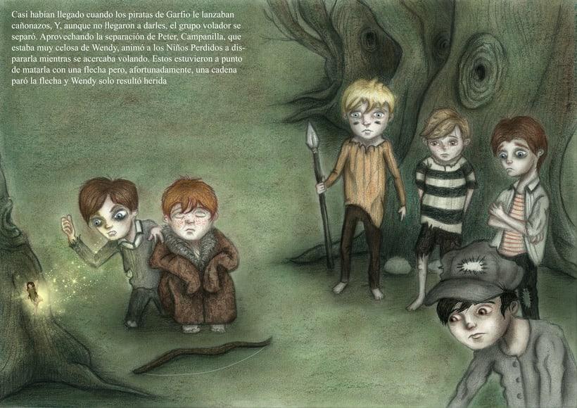 """Proyecto final de Ilustración """" Peter Pan"""" 6"""