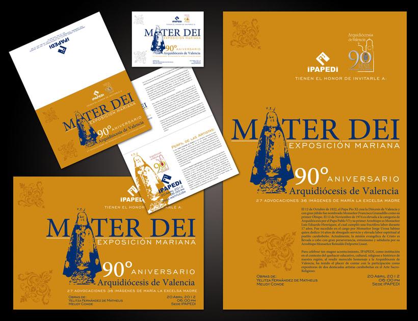 Mater Dei Exposición Mariana | Diseño Gráfico | 2012 -1