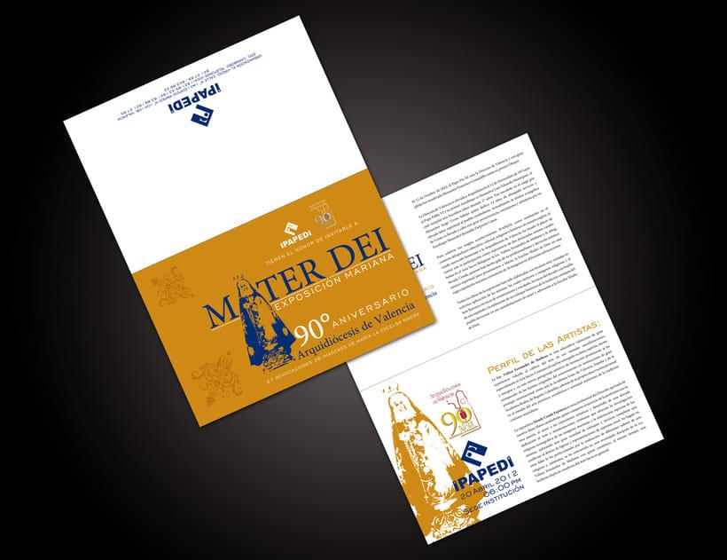 Mater Dei Exposición Mariana | Diseño Gráfico | 2012 0