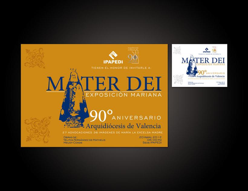 Mater Dei Exposición Mariana | Diseño Gráfico | 2012 1