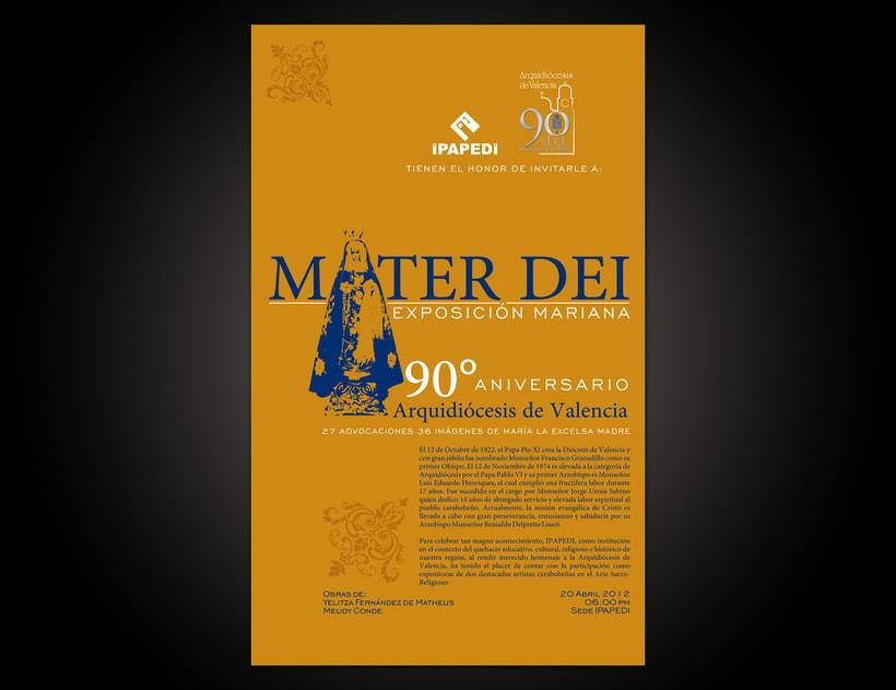 Mater Dei Exposición Mariana | Diseño Gráfico | 2012 3