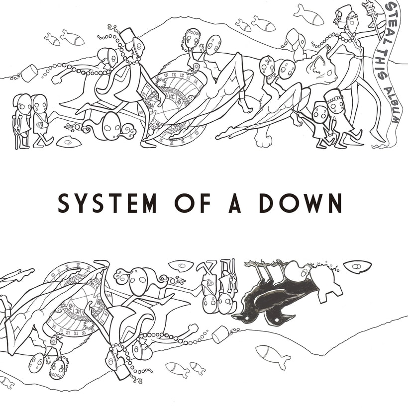 """System of A Down """"Steal This Album"""" (rediseño CD) 1"""