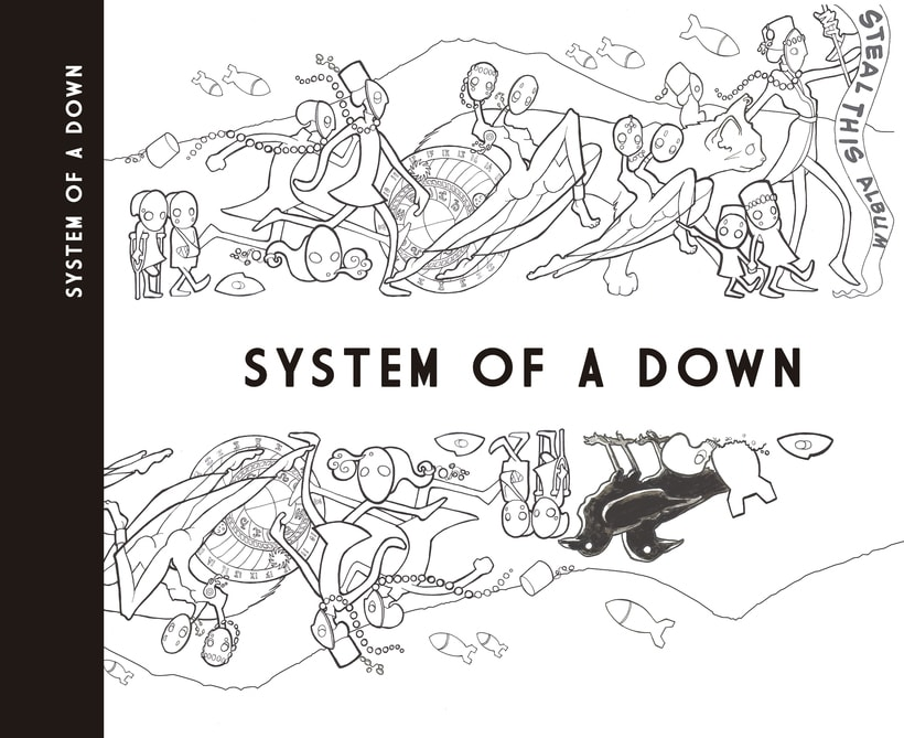 """System of A Down """"Steal This Album"""" (rediseño CD) 6"""
