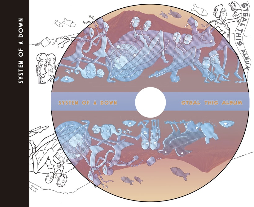 """System of A Down """"Steal This Album"""" (rediseño CD) 7"""