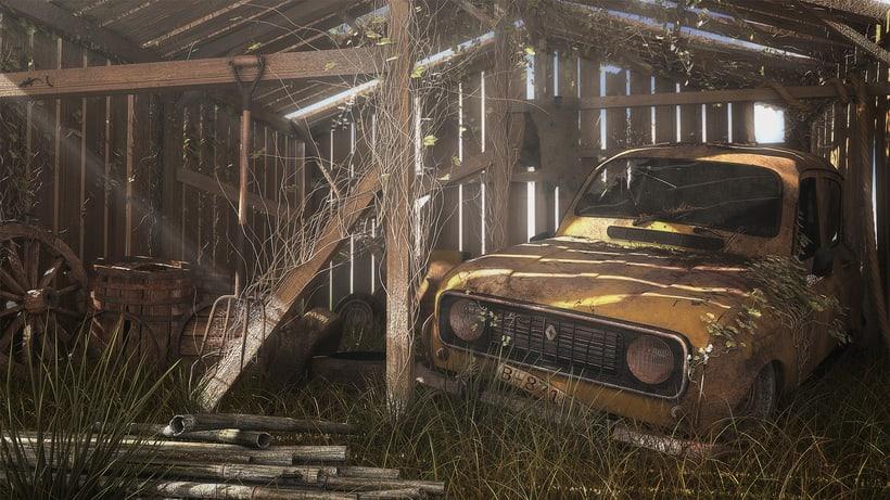 Renault 4L abandonado 1