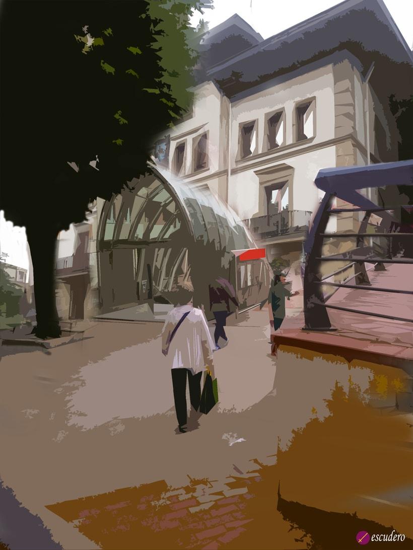 Ayuntamiento de Sestao y boca del metro 0