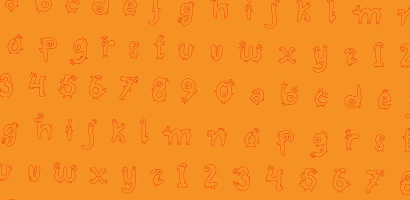 Glyphers - a playful new font 2