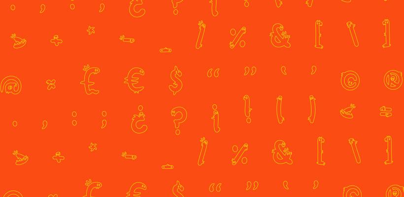 Glyphers - a playful new font 3