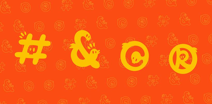 Glyphers - a playful new font 7