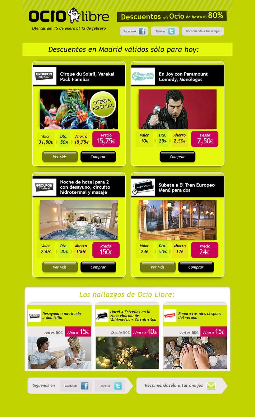 Ocio libre. Portal de ofertas de ocio. Diseño de logo e imagen gráfica. 1