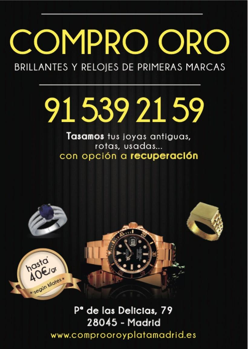 Rediseño folletos y web Compro Oro -1