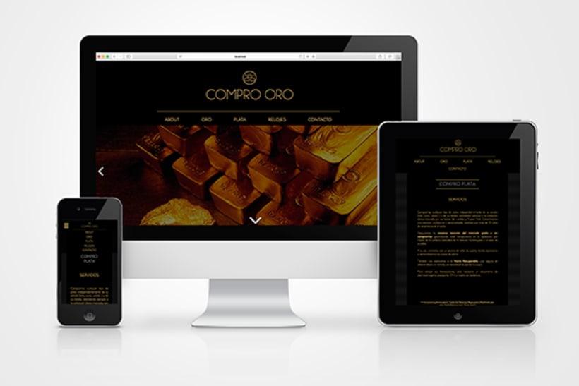 Rediseño folletos y web Compro Oro 1
