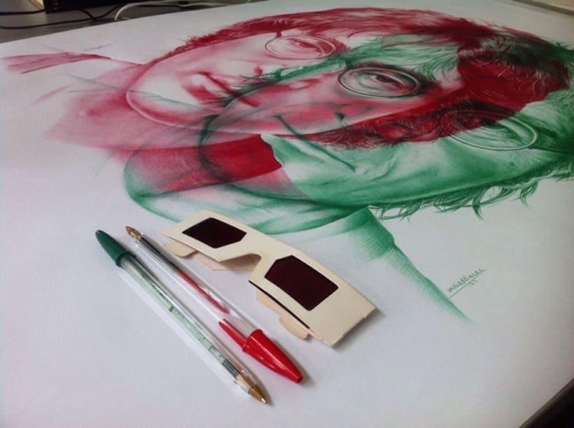 BOLI BIC - Obra: ayer&hoy  - Otra forma de ver la ilustración - 100x70 cm 8