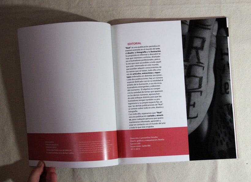 """Maquetación revista simulada""""Nuit""""  -1"""
