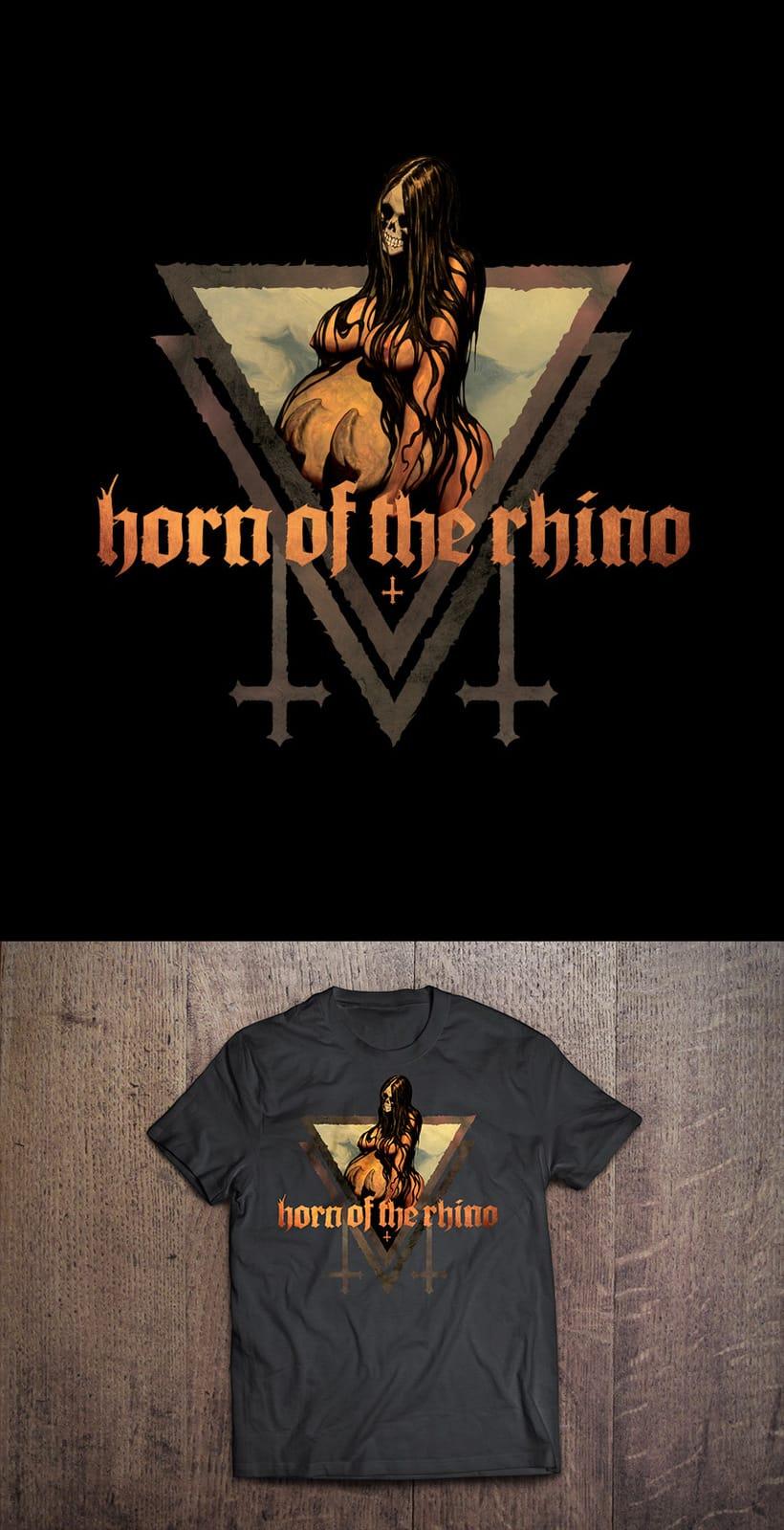 Camisetas Horn of the Rhino 2