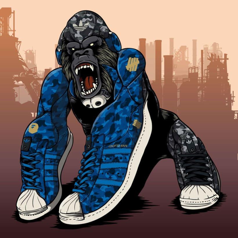 Ilustración para SiVasDescalzo - BAPE x UNDFTD x Adidas Originals Superstar 80s  0