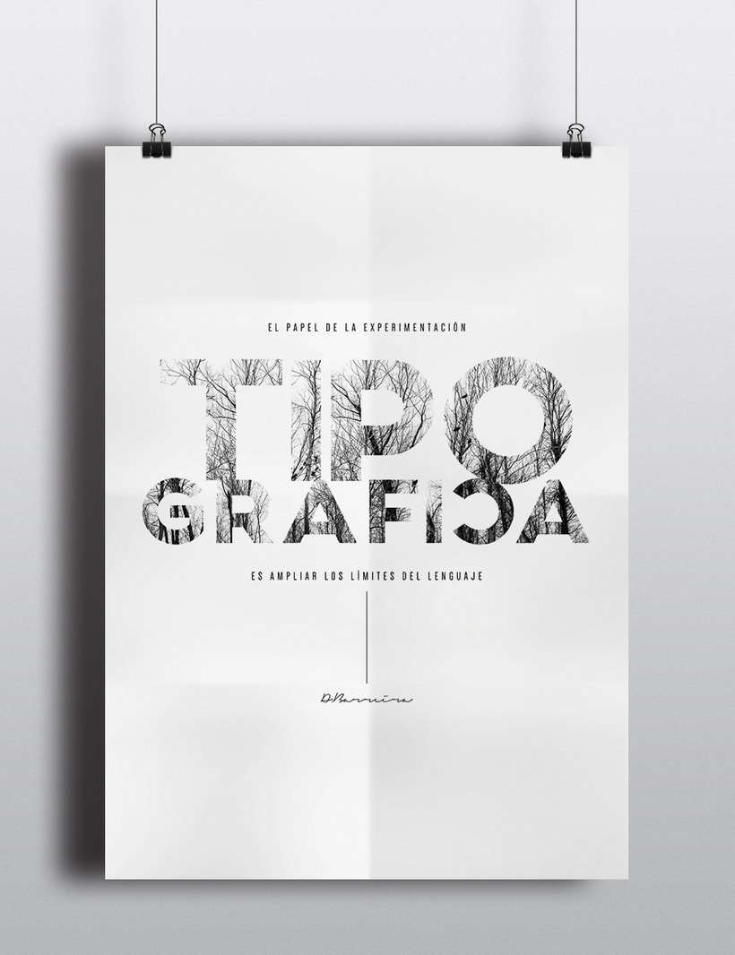 Experimentación tipográfica. 2
