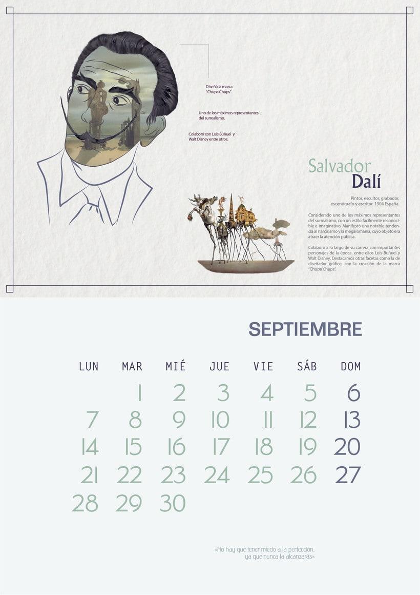 """Calendar """"El espíritu del viento"""" 4"""