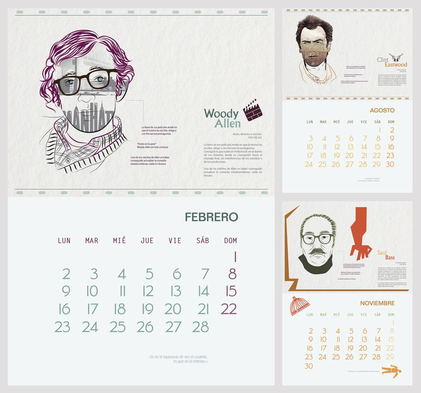 """Calendar """"El espíritu del viento"""" 1"""