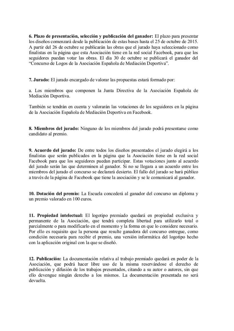 CONCURSO DE LOGO DE LA ASOCIACIÓN ESPAÑOLA DE MEDIACIÓN DEPORTIVA  1