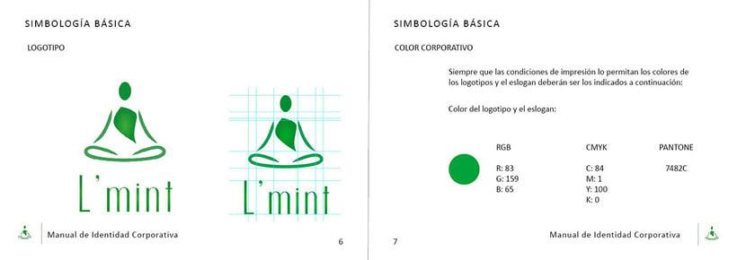 L'mint. Manual de Identidad Corporativa. Branding 3