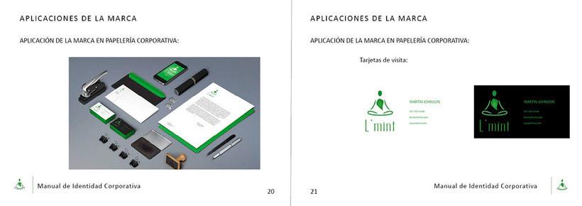 L'mint. Manual de Identidad Corporativa. Branding 10