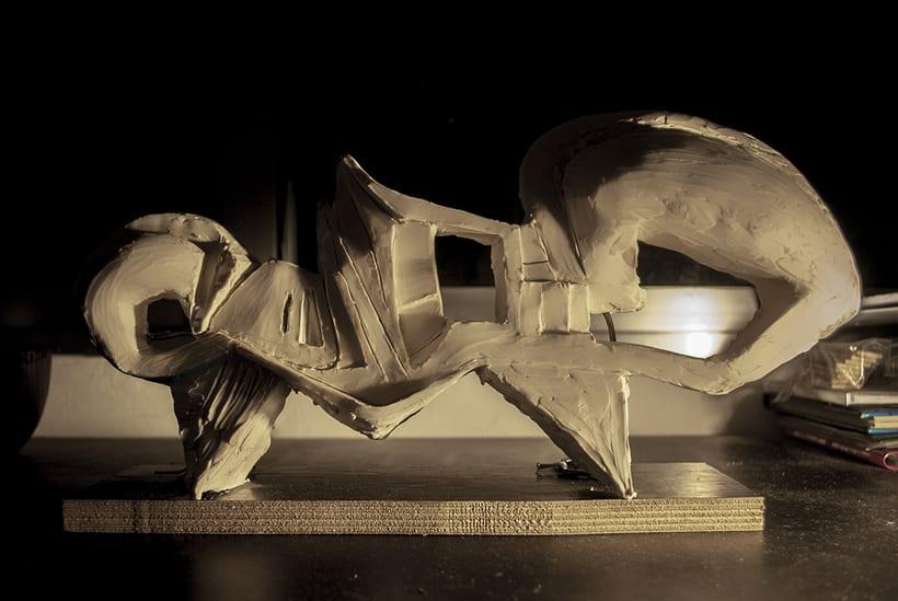 """""""OLA"""" . escultura de plastilina. plastic sculpture 1"""