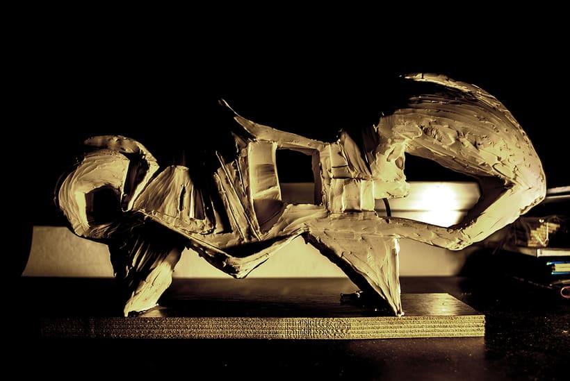 """""""OLA"""" . escultura de plastilina. plastic sculpture 2"""