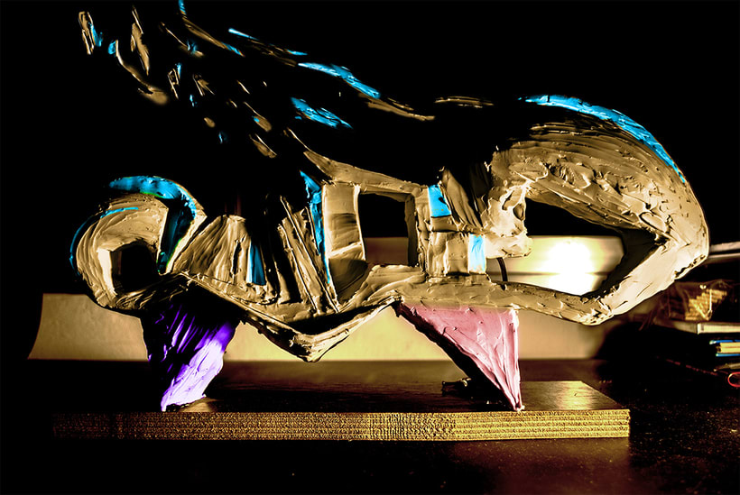 """""""OLA"""" . escultura de plastilina. plastic sculpture 3"""