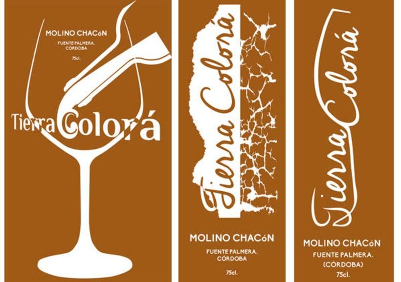 Diseño etiquetas tres vinos, Molino Chacón, Córdoba. 3