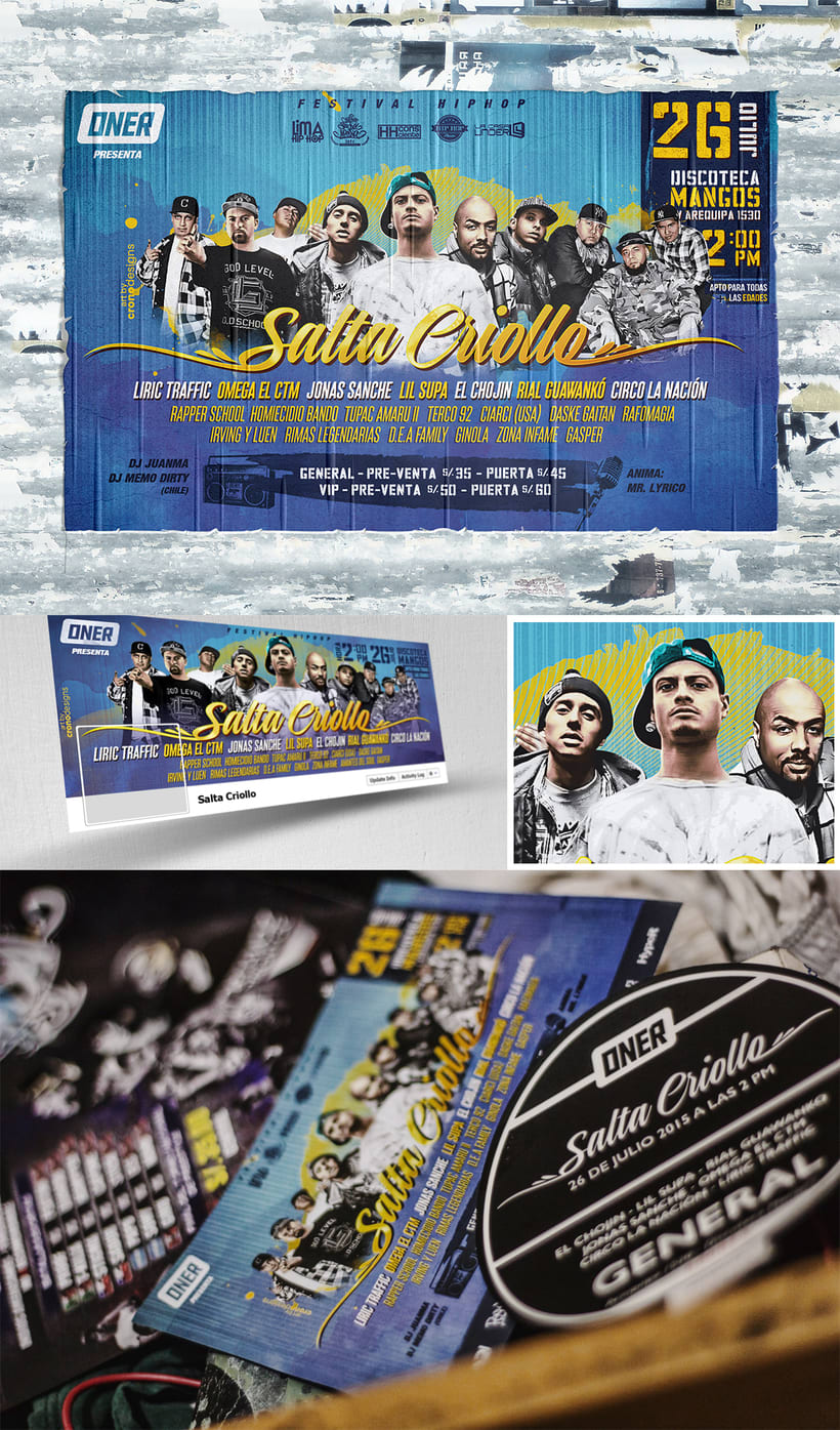 Poster + Flyer - Salta Criollo, Hip Hop Fest 1