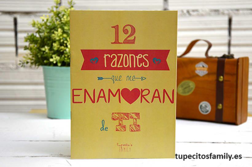 Librillo 12 razones que me enamoran de ti Tupecito´s Family -1