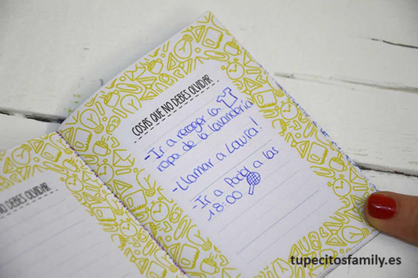 Mini libretas para mamá Tupecito´s Family 4