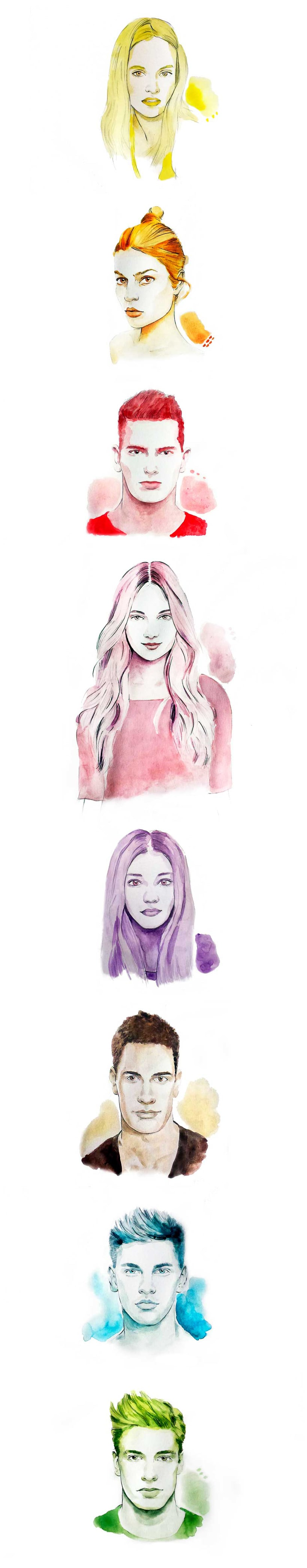Monocolor portraits -1