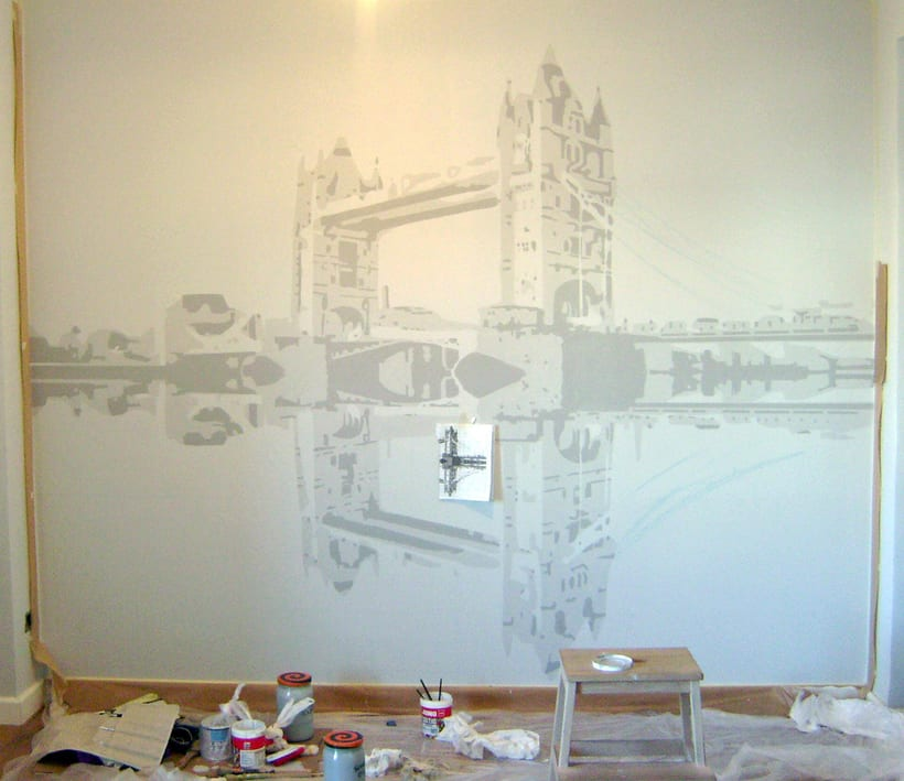 "Mural ""Tower Bridge"" 2"