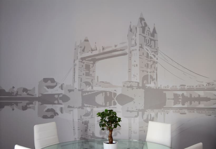 "Mural ""Tower Bridge"" 4"