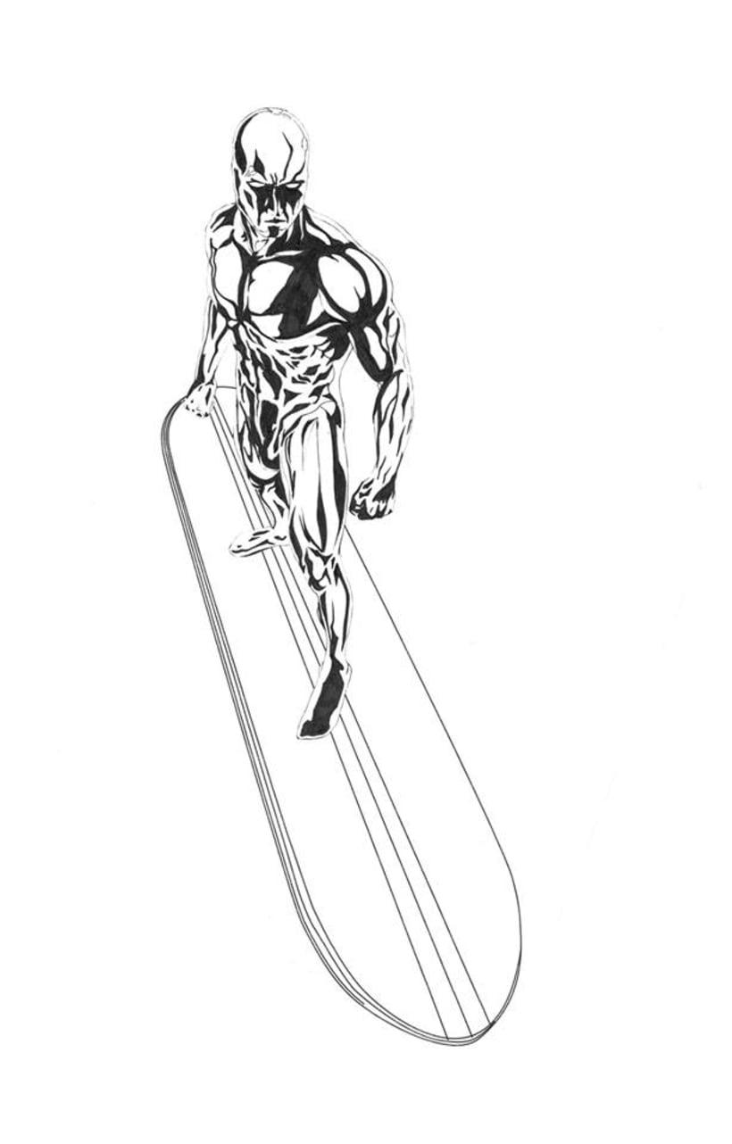 "Mural ""Estela Plateada"" (Silver Surfer) 1"