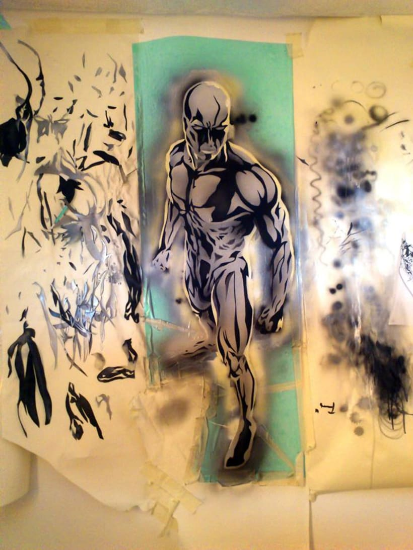 "Mural ""Estela Plateada"" (Silver Surfer) 2"