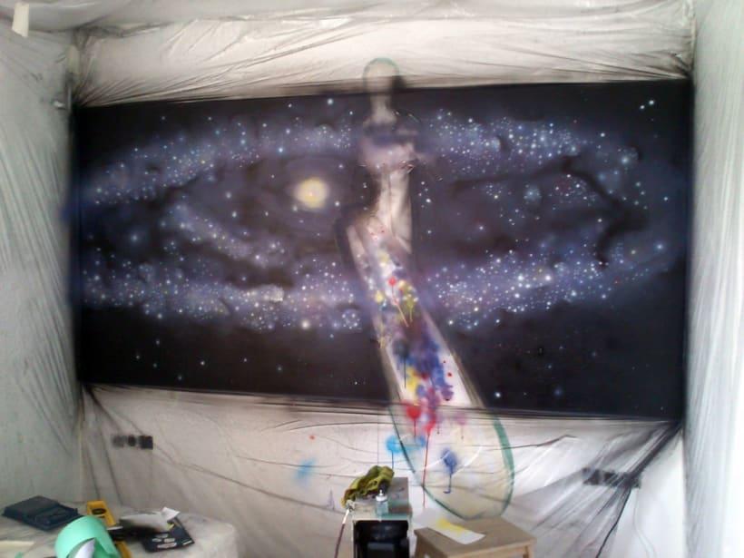 "Mural ""Estela Plateada"" (Silver Surfer) 6"