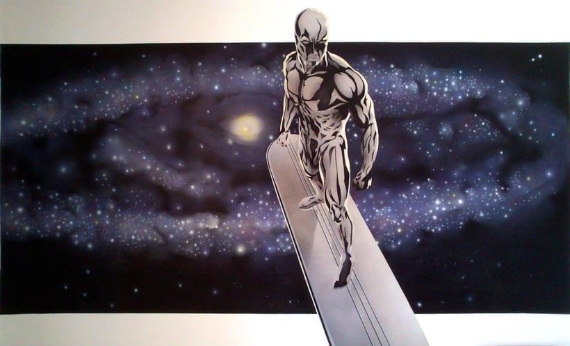 "Mural ""Estela Plateada"" (Silver Surfer) 8"