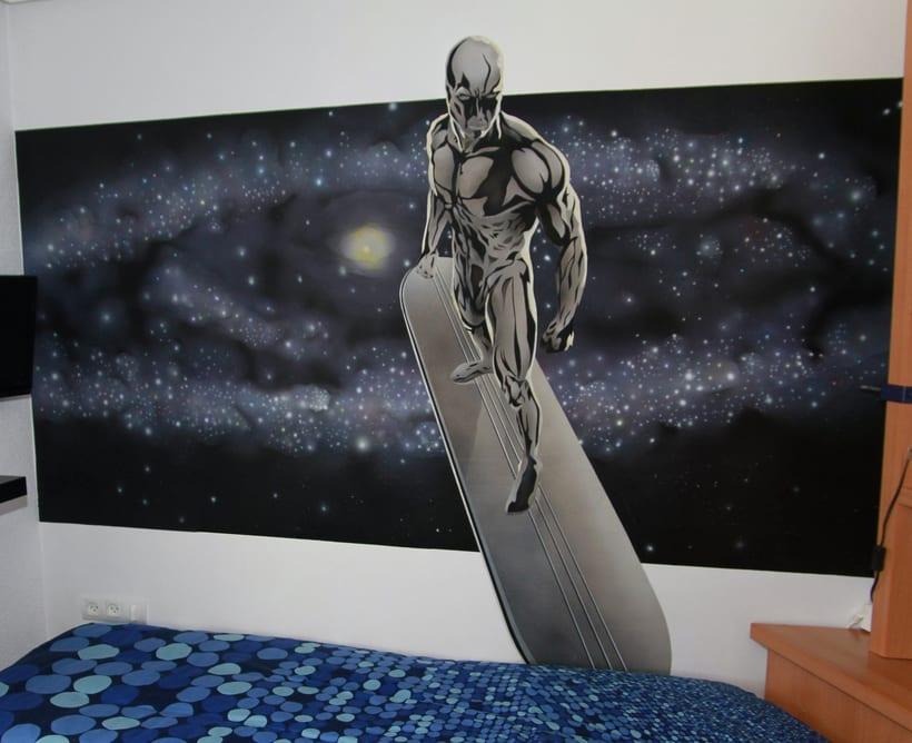 "Mural ""Estela Plateada"" (Silver Surfer) 7"