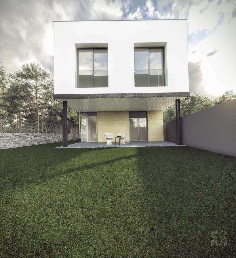 Render - arquitectura 3D - Vivienda unifamiliar 0