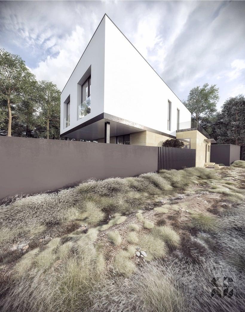 Render - arquitectura 3D - Vivienda unifamiliar 1