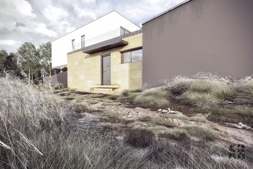Render - arquitectura 3D - Vivienda unifamiliar 2