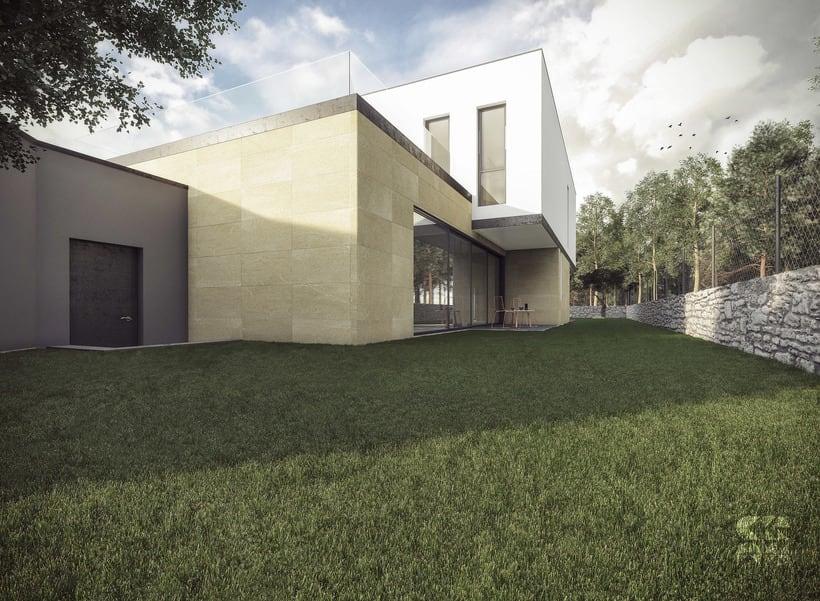 Render - arquitectura 3D - Vivienda unifamiliar 4