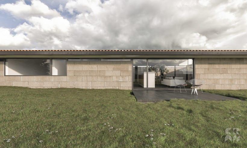 Render - Arquitectura 3D - Diseño - Casa Patio 0