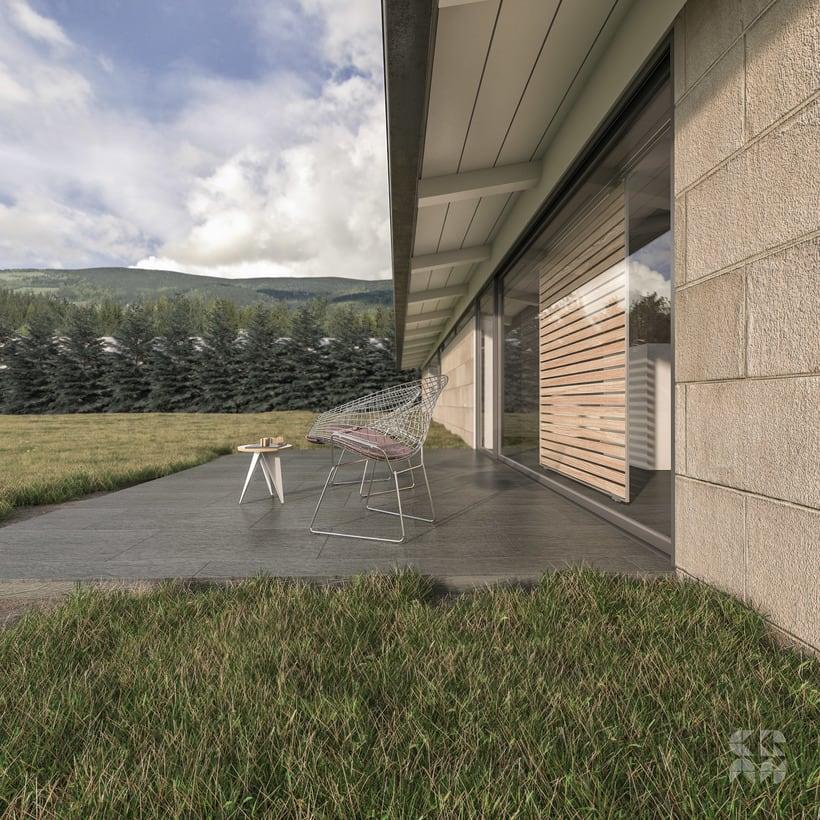 Render - Arquitectura 3D - Diseño - Casa Patio 1