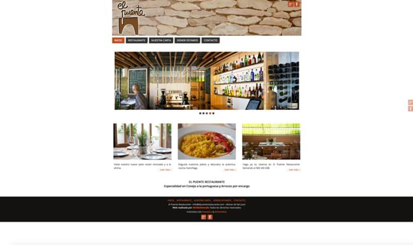 WEB Restaurante El Puente 0